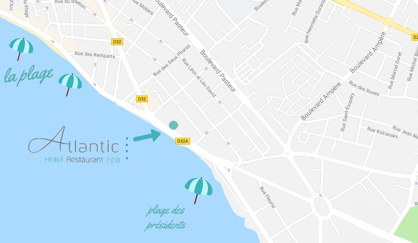 Plan de situation Atlantic Hotel aux Sables d'Olonne